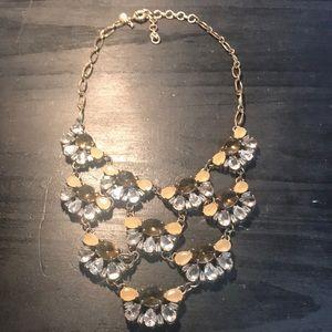 J. Crew rhinestone statement necklace